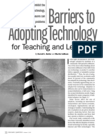 Barriers to Adopting Technology