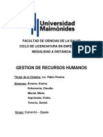 Gestion de Recursos Humanos 1