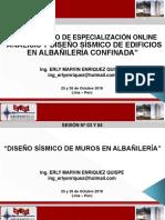 Albañilería - Sesión 03 y 04