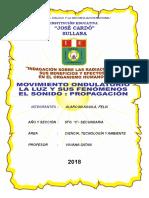 TRABAJO CTA FELIX ALARCON LA LUZ  Y EL SONIDO.doc