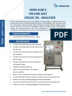 MOD 4100 S –Salt in Crude Oil Analyser