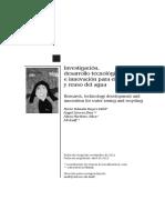 Investigación, desarrollo tecnológico e innovación para el cuidado y reuso del agua