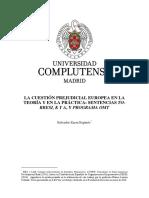 Cuestión Prejudicial Europea en La Teoría y en La Práctica SALVADOR ZAERA