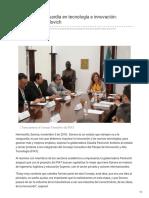 05-11-2018 -Sonora a la vanguardia en tecnología e innovación gobernadora Pavlovich - Nuevo Día
