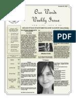Newsletter Volume 9 Issue 36