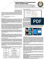 Development and Evaluation of a Communication Device for Deaf People
