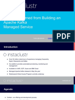 Lessons Learned From Building an Kafka Managed Service- Melbourne Meet Up October 1