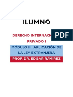 DERECHO INTERNACIONAL PRIVADO I MÓDULO III