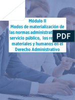 Derecho Administrativo Módulo II