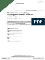7. Relationship Between Wadi Drainage Characteristics and Peak Flood Flows in Arid Northern Oman