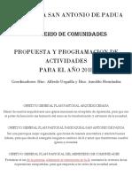 Plan 2018 Comunidades