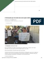 A Venezuela Que Encontrei Dez Anos Após Minha Primeira Visita - BBC News Brasil