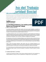Derecho Del Trabajo y Seguridad Social