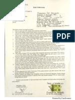 Surat Pernyataan Pemkab Sidoarjo