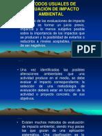 Métodos Usuales de Evaluación de Impacto Ambiental