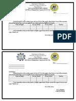 Man-Ai Form 137 Request Form