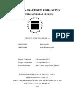 175745094 Laporan Praktikum Kimia Klinik Kadar Glukosa