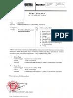 Surat Edaran No. 19 Ttg Sosialisasi Pembayaran Biaya Pendidikan