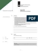 Antecedents Certificate