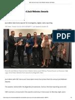 CBC Vancouver ROSEVERE Wins 4 Jack Webster Awards CBC News