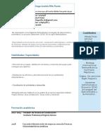 Curriculum Diego Rifo