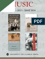 U of Illinois Press Music brochure 2010-11