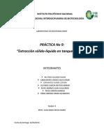 PRACTICA 9 Extracción Sólido Líquido en Tanque Agitado (INTRODUCCIÓN)