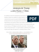 La Estrategia de Trump Contra Rusia y China, Por Alfredo Jalife-Rahme