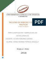 ACTOS JURIDICOS CLASIFICACION Y EJEMPLOS.doc