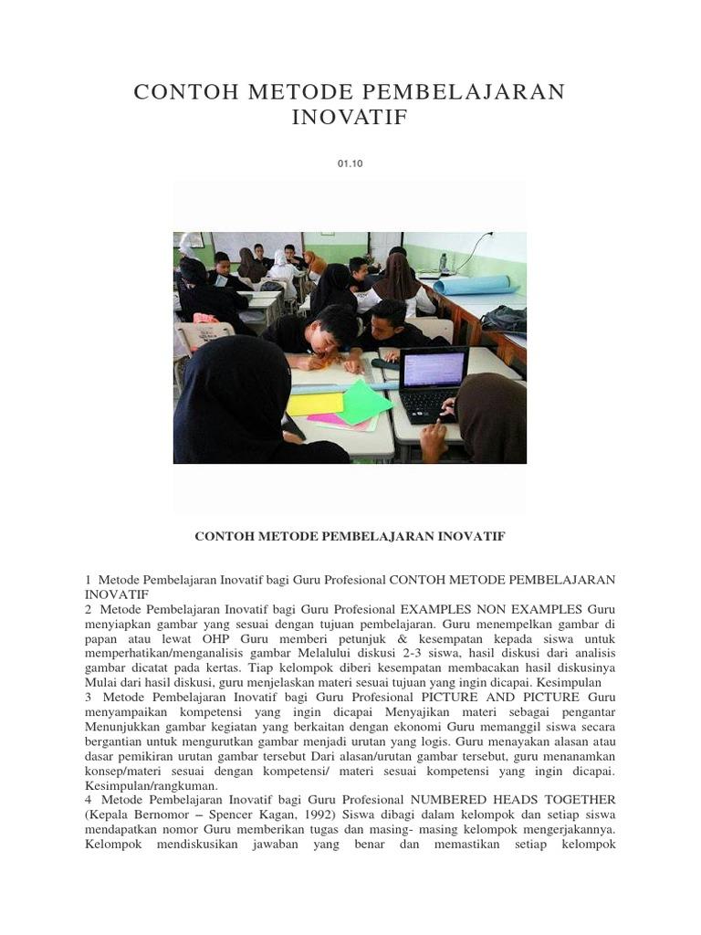 Contoh Metode Pembelajaran Inovatif