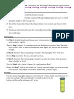 step by step graphic organizer on determining volume