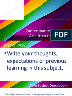 Contemporary Philippine Arts from the Regions Lesson 1
