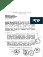 CAL acepta admite demanda contra fiscal de la Nación Gonzalo Chávarry