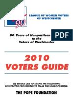 LWV Westchester Voter Guide 2010