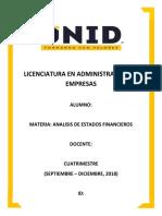 Actividad de Aprendizaje #1 - Analisis de Estados Financieros