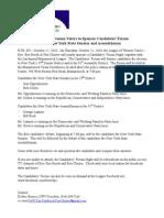 LWV Candidates Forum Press Release Oct 21, 2010