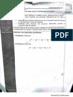 Ecuaciones diferenciales examen parcial 2