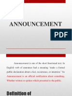 Ppt Materi Announcement