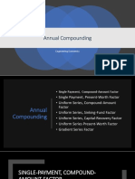 Annual Compounding