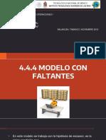 4.4.4 Modelo Con Faltante