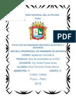 Tipos de Sociedades en El Peru