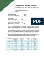 Resolucion de Los Ejercicios de Ingenieria Econonica