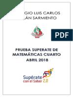 PRUEBA SUPÉRATE CUARTO ABRIL  2018