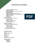 Abordarea Pacientului Neurologic
