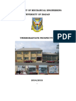 University of Ibadan_Mech Eng_Course Content and Staff