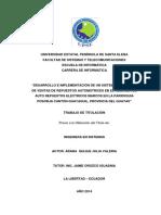 DESARROLLO E IMPLEMENTACIÓN DE UN SISTEMA DE GESTIÓN DE VENTAS DE REPUESTOS AUTOMOTRICES EN EL ALMACÉN DE AUTO REPUESTOS ELÉCTRICOS MARCOS EN LA PARROQUIA POSORJA CANTÓN GUAYAQUIL, PROVINCIA DEL GUAYAS.pdf