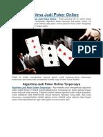 Algoritma Judi Poker Online