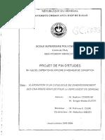 République Du Senegal - Université Cheik Anta Diop de Dakar (2003-2004) - Elaboration d'Un Catalogue de Dimensionnement Des Chausses Souples Pour Le Zone Ouest Du Senegal