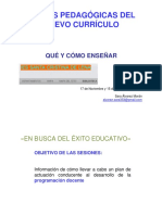 CLAVES PEDAGOGICAS DEL  CURRICULO