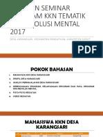 Laporan Seminar Program Kkn Tematik Upi Revolusi Mental